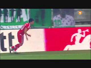 Benfica, Jogada, R. Jiménez, 18m