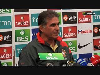 """Carlos Queiroz """"A pressão está do lado da Bósni"""