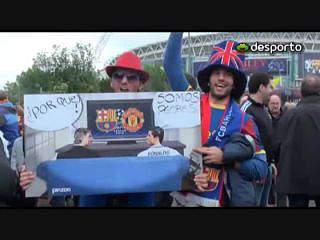 A festa à volta do Estádio de Wembley