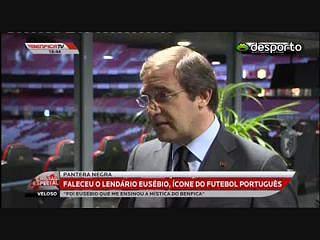 PM presente no velório para expressar consternação dos portugueses