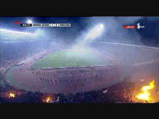Confrontos violentos no Estrela Vermelha-Partizan