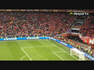 Adeptos do Benfica deram show no ArenA