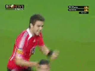 Benfica, golo Katsouranis, 63 min, 2-1