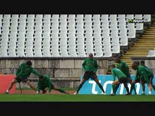 Selecção treina antes de partir para a Bósnia