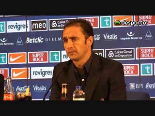 V. Pereira «satisfeito com o rendimento» da equipa