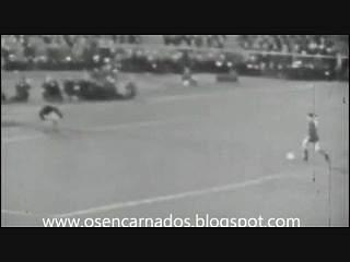Eusébio na conquista da Taça dos Campeões Europeus pelo Benfica