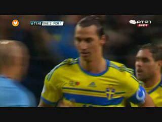Suécia, Golo, Ibrahimovic, 72m, 2-1