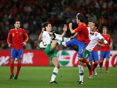 Portugal somou primeiro desaire frente à Espanha em fases finais