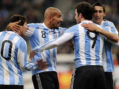Argentina e Colômbia favoritas