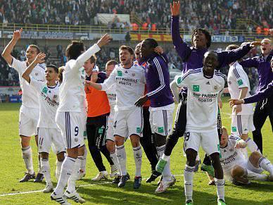 Anderlecht vence campeonato a quatro jornadas do fim