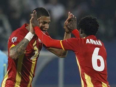 Jogadores do Gana recebidos como heróis