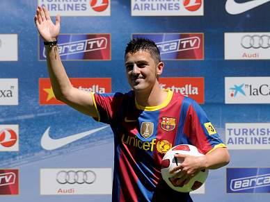 Villa já veste à Barcelona