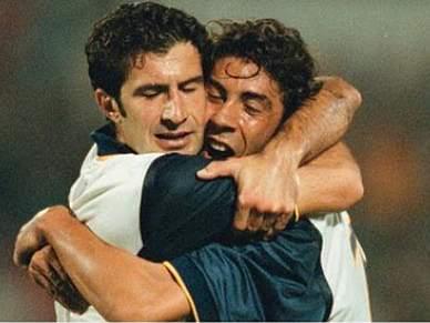 Figo e Rui Costa defrontam-se no Bernabéu