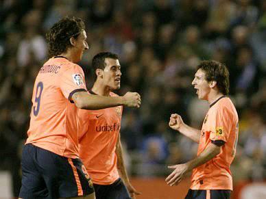 Barcelona vence Deportivo na Corunha com dois golos de Messi