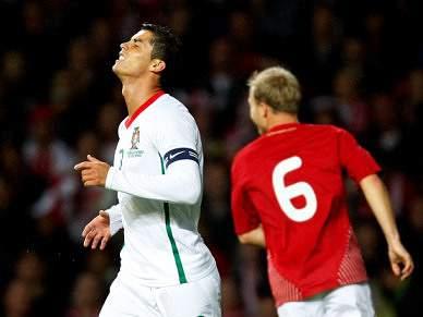 Portugal não vence Dinamarca há 10 anos