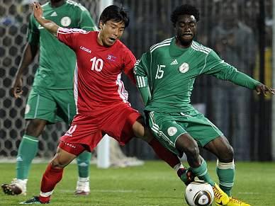 Nigéria vence Coreia do Norte por 3-1