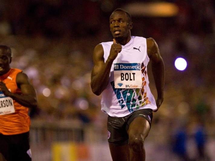 Usain Bolt corre para 'meeting' de Roma