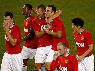 Manchester United goleou estrelas da MLS