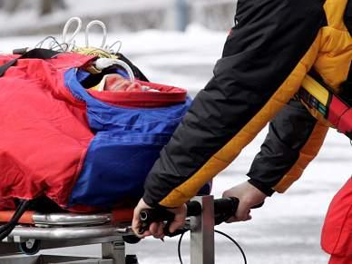 Esquiador operado de emergência após acidente