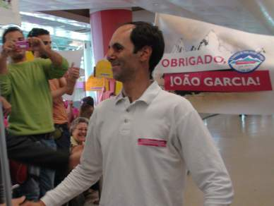 """João Garcia já em Lisboa à procura de """"sopas e descanso"""""""