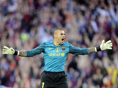 Valdés falha jogo do Barcelona