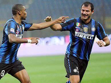 Etoo bisa na goleada do Inter