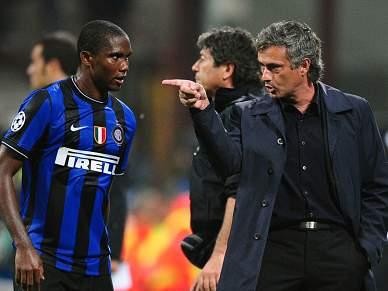 Eto´o e Materazzi visitaram Mourinho no Hotel