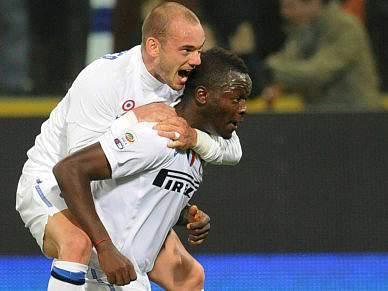 Muntari dá vitória ao Inter