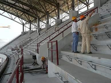 Presidente angolano inaugurou estádio da abertura e encerramento da prova