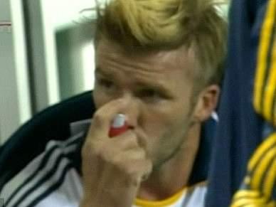 David Beckham sofre de asma desde criança