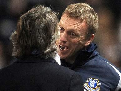 Mancini expulso por agredir treinador do Everton