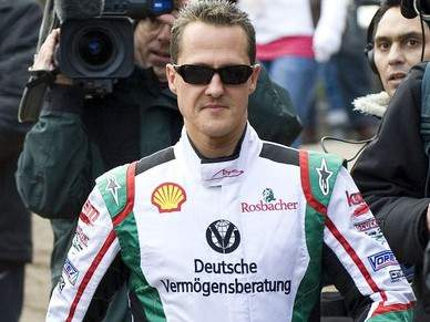 Schumacher enjoa no simulador