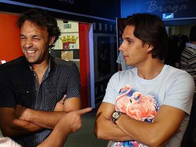 Quim e Nuno Gomes felizes pelo regresso