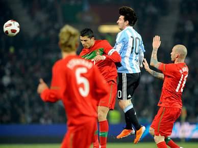 Destaque para a vitória de Messi sobre Ronaldo