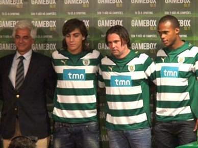 """Sporting apresenta """"três caras novas"""""""