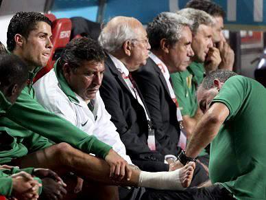 Ronaldo é dúvida para jogo com Malta