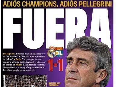 Imprensa espanhola arrasa Real Madrid