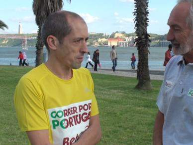 Três atletas correm mais de mil quilómetros por Portugal
