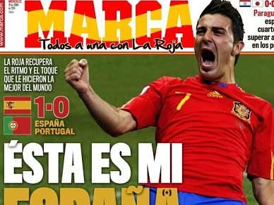 Sonho espanhol e Villa dominam as manchetes da imprensa espanhola