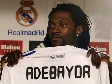Adebayor rendido a Pepe e Ronaldo