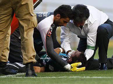 João Pereira sofreu traumatismo craniano