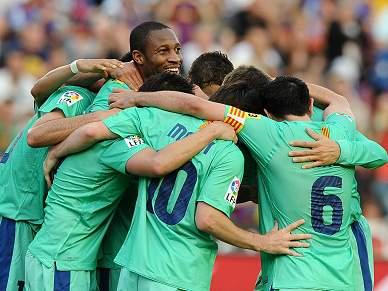 Barcelona faz a festa do 'tri'