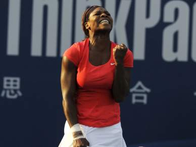 Serena Williams chora... de felicidade