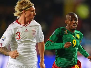 Camarões e Dinamarca empatados