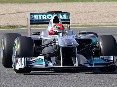 Schumacher domina quarta sessão de testes