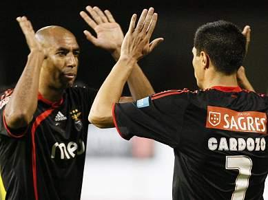 Luisão e Cardozo treinaram sem limitações