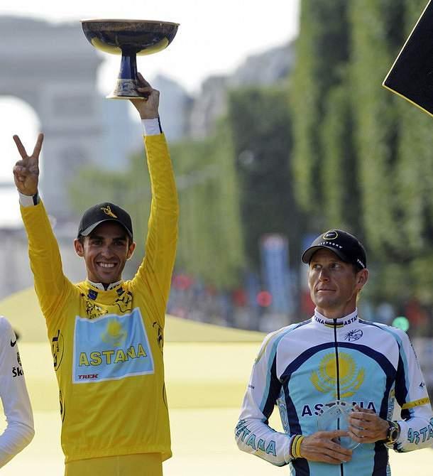 Lance Armstrong assume que manteve má relação com Alberto Contador