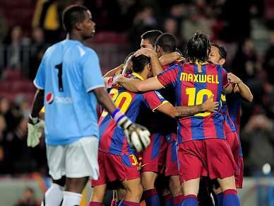 Barcelona goleia Ceuta e confirma oitavos