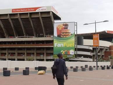 Durban tem dois estádios lado a lado