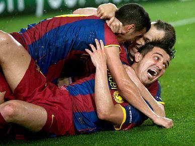 Explosão de alegria em Barcelona por novo título europeu